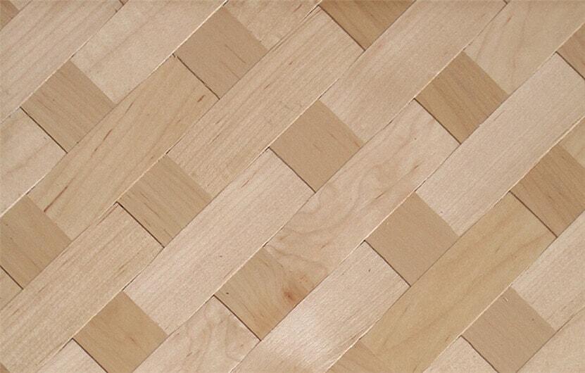 Real Maple Weave Veneer For Door And Cabinet Skin Decoration